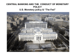 CENTRAL BANKING AND CONDUCT OF MONETARY POLICY U.S.