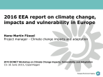 2016 EEA report on climate change, impacts and vulnerability in