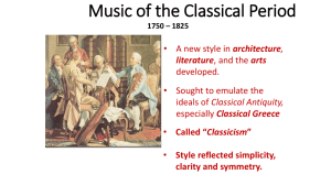 classical period class notes