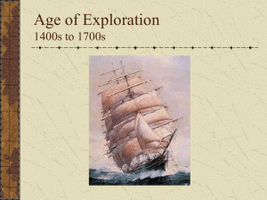 Age of Exploration e of Exploration