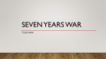 Seven Years War - Washoe Academy Abroad