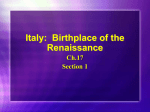 Ch17_1 Birthplace of the Renaissance