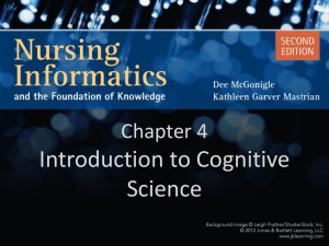 Chapter 4 Introduction to Cognitive Science