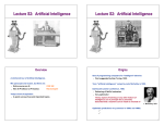 Lecture S2: Artificial Intelligence Lecture S2: Artificial Intelligence