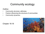 Lecture 8: Community ecology