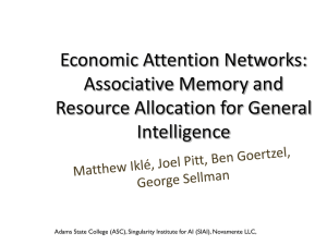 Economic Attention Networks: Associative Memory and Resource