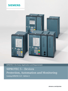 SIPROTEC 5 – Devices Protection, Automation and Monitoring