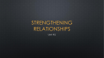 Unit 2 Strengthing Relationships