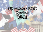 US History End of Year review