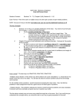 MATH 260: Elements of Statistics Exam #3 Review Sheet Sections