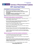 CHF: Acute Heart Failure - Guidelines Advisory Committee