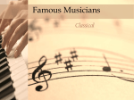 Famous Musicians – Classical - Adventures of a Music Teacher