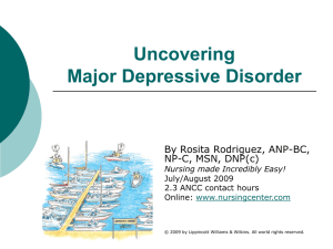 Uncovering Major Depressive Disorder