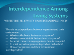Interdependence Among Living Systems