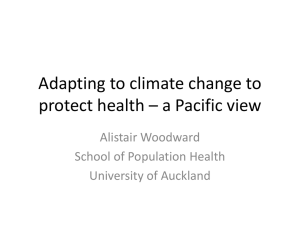 Adapting to climate change to protect health * why?