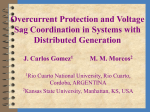 Overcurrent Protection and Voltage Sag Coordination in Systems
