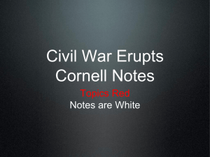 Civil War Erupts Cornell Notes