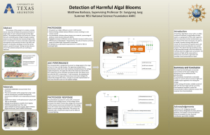 Detection of Harmful Algal Blooms