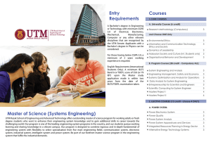 Master of Science (Systems Engineering)