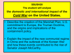 COLD WAR  2 - united states history