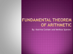 Finite Theorem of Arithmetic