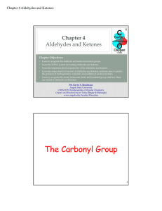 The Carbonyl Group - Angelo State University
