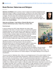 Book Review: Habermas and Religion