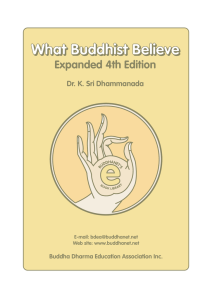 What Buddhists Believe