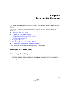 Chapter 5 Advanced Configuration