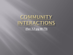 3.3 Community Interactions