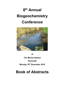 Book of abstracts - Plymouth University