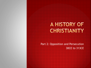 A History of Christianity - Religious Education Resources