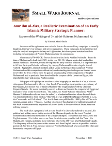 Amr ibn al-A`as, a Realistic Examination of an Early Islamic Military