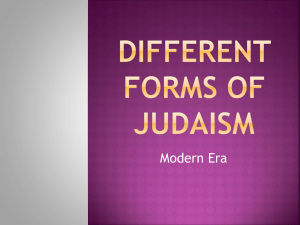 Different Forms of Judaism - All I Really Need to Know I Learned In