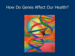 How Do Genes Affect Our Health?