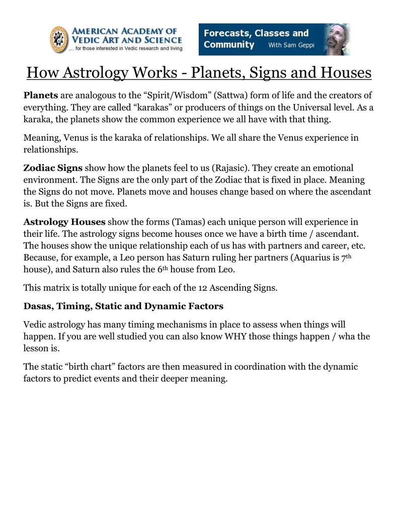 How Astrology Works - Planets, Signs and Houses