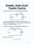 Example: Diode Circuit Transfer Function