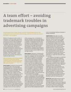 A team effort – avoiding trademark troubles in advertising campaigns