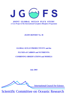 JOINT GLOBAL OCEAN FLUX STUDY