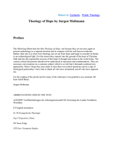 Theology of Hope by Jurgen Moltmann Chapter 1