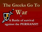 The Greeks Go To War