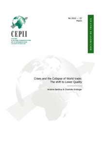 Crises and the Collapse of World Trade: The Shift to Lower