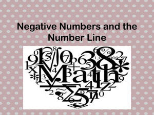 Positive Numbers and the Number Line