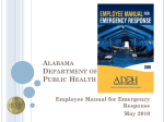 Alabama Department of Public Health Center for Emergency