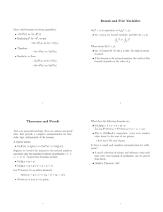 Bound and Free Variables Theorems and Proofs
