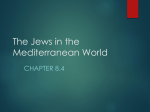 The Jews in the Mediterranean World