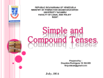 simple and compound Tenses.