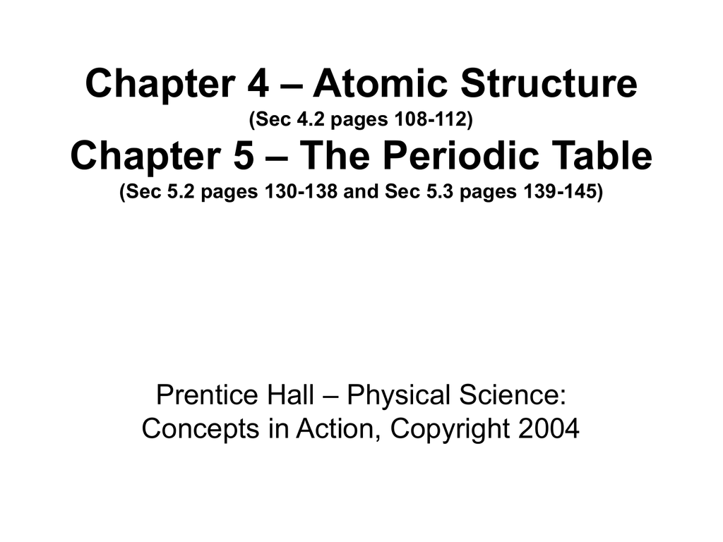 Chapter 4 atomic structure sec 42 pages 108 gamestrikefo Images