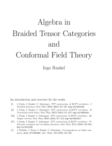 Algebra in Braided Tensor Categories and Conformal Field Theory