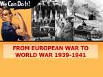 from european war to world war 1939-1941